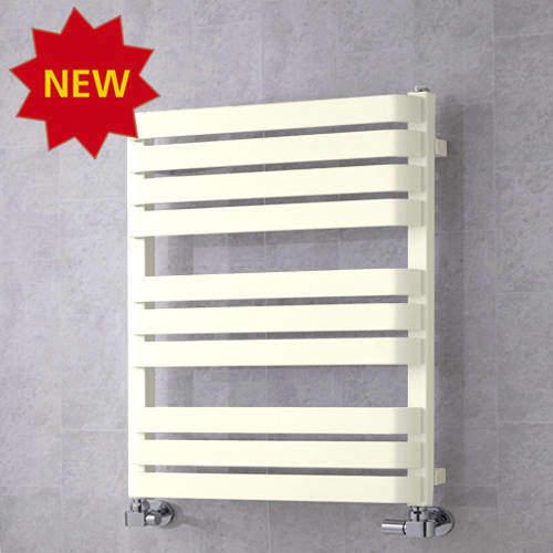 COLOUR Heated Towel Rail & Wall Brackets 785x500 (Cream).