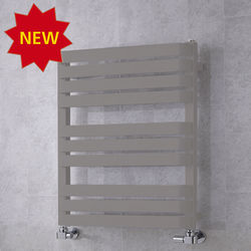 COLOUR Heated Towel Rail & Wall Brackets 785x500 (Grey Aluminium).