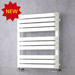 COLOUR Heated Towel Rail & Wall Brackets 785x500 (Pure White).