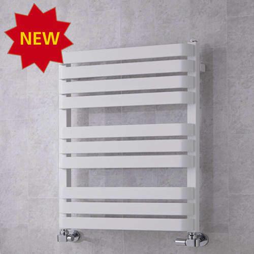 COLOUR Heated Towel Rail & Wall Brackets 785x500 (White).