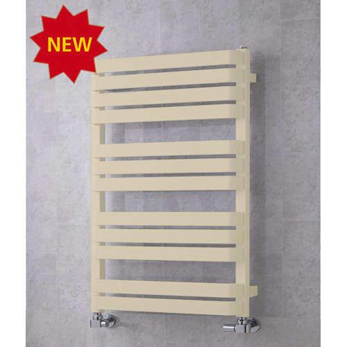COLOUR Heated Towel Rail & Wall Brackets 915x500 (Light Ivory).