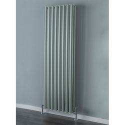 COLOUR Tallis Double Vertical Radiator 1820x300mm (Traffic Grey).