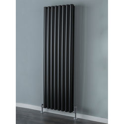 COLOUR Tallis Double Vertical Radiator 1820x480mm (Jet Black).