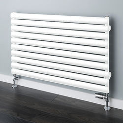 COLOUR Tallis Horizontal Radiator 480x1220mm (White, 2163 BTUs).