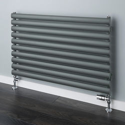 COLOUR Tallis Horizontal Radiator 600x1520mm (Traffic Grey A, 3490 BTUs).