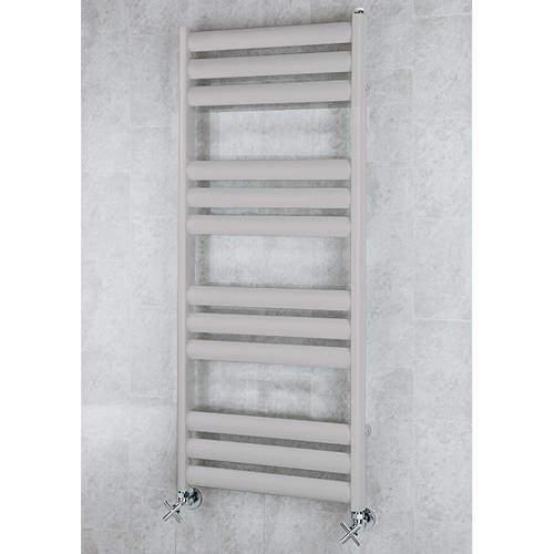 COLOUR Heated Ladder Rail & Wall Brackets 1060x500 (White Alumin).