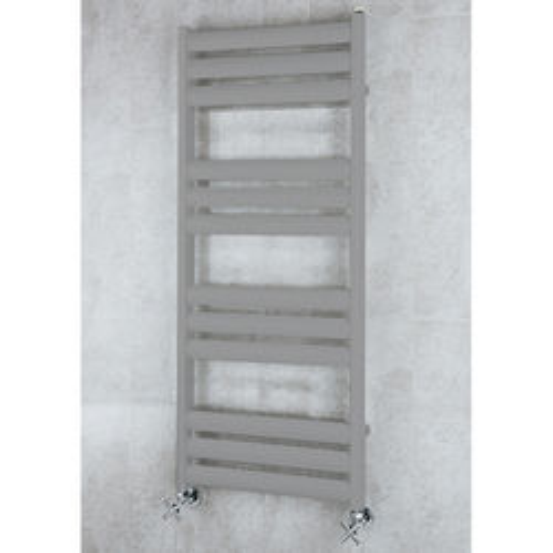 COLOUR Heated Ladder Rail & Wall Brackets 1060x500 (Grey Aluminium).