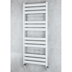 COLOUR Heated Ladder Rail & Wall Brackets 1060x500 (White).