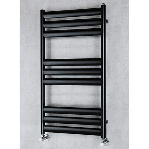 COLOUR Heated Ladder Rail & Wall Brackets 780x500 (Black).