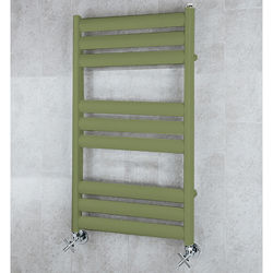 COLOUR Heated Ladder Rail & Wall Brackets 780x500 (Reed Green).