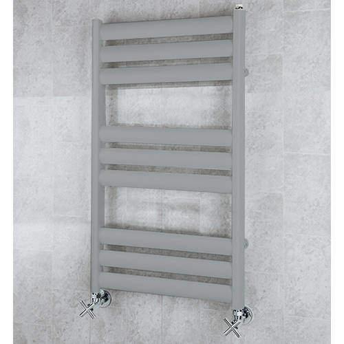COLOUR Heated Ladder Rail & Wall Brackets 780x500 (Window Grey).