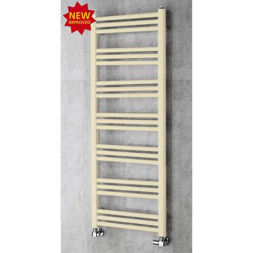COLOUR Heated Ladder Rail & Wall Brackets 1374x500 (Light Ivory).