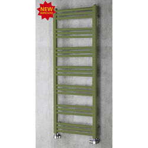 COLOUR Heated Ladder Rail & Wall Brackets 1374x500 (Reed Green).