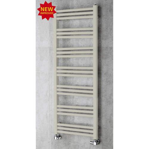 COLOUR Heated Ladder Rail & Wall Brackets 1374x500 (Silk Grey).