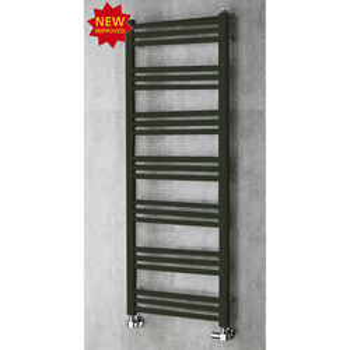 COLOUR Heated Ladder Rail & Wall Brackets 1374x500 (Signal Black).