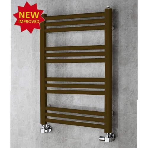 COLOUR Heated Ladder Rail & Wall Brackets 759x500 (Nut Brown).