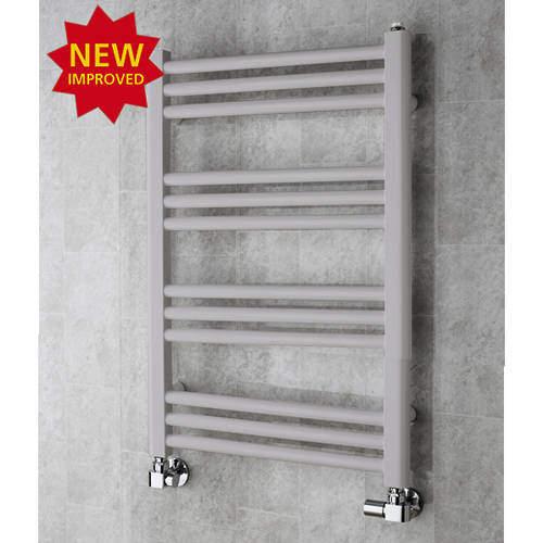 COLOUR Heated Ladder Rail & Wall Brackets 759x500 (White Aluminium).