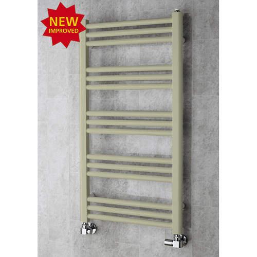 COLOUR Heated Ladder Rail & Wall Brackets 964x500 (Pebble Grey).