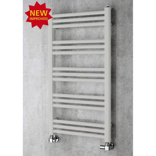COLOUR Heated Ladder Rail & Wall Brackets 964x500 (Light Grey).
