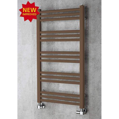 COLOUR Heated Ladder Rail & Wall Brackets 964x500 (Pale Brown).