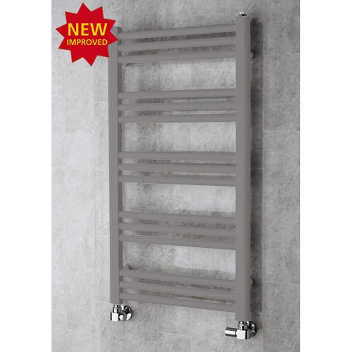 COLOUR Heated Ladder Rail & Wall Brackets 964x500 (Grey Aluminium).