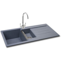 Carron Phoenix  Java 150 Double Bowl Granite Sink 1000x510mm (Stone Grey).