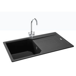 Carron Phoenix  Aruba Single Bowl Granite Sink 860x500mm (Graphite).