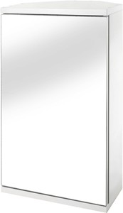 Croydex Cabinets Corner Bathroom Cabinet With Mirror. 300x500x140mm.