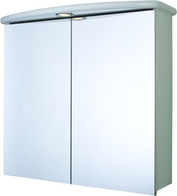 Croydex Cabinets 2 Door Bathroom Cabinet, Light & Shaver.  700x640x250mm.