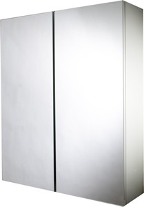 Croydex Cabinets Mirror Bathroom Cabinet With 2 Doors.  530x640x155mm.