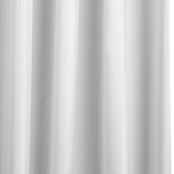 Croydex Textile Pro Shower Curtain & Rings (White, 2000x2000 mm).