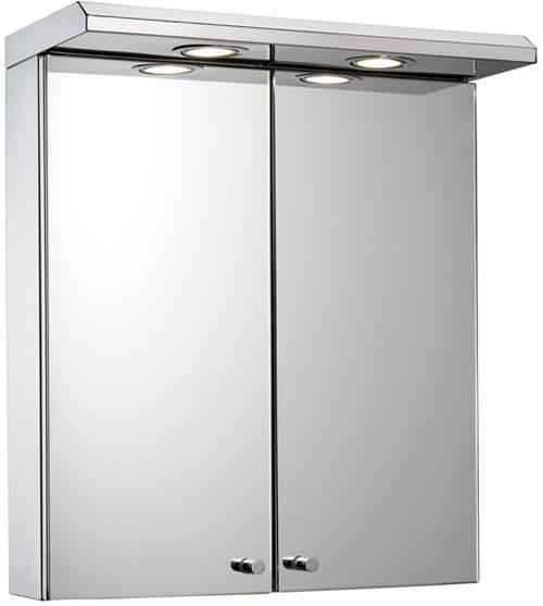 Croydex Cabinets Mirror Bathroom Cabinet, Lights & Shaver. 450x530x230mm.