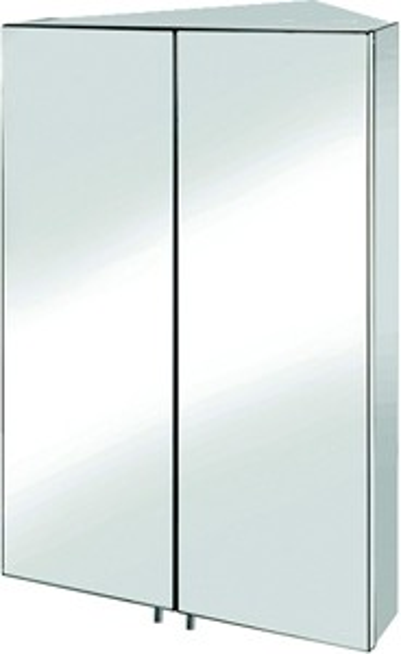Croydex Cabinets Avisio Corner Mirror Bathroom Cabinet. 450x700x270mm.