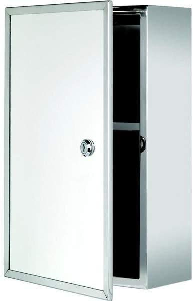 Croydex Cabinets Trent Lockable Mirror Medicine Cabinet. 250x400x130mm.