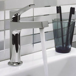 Crosswater Gallery Acute Basin Mixer Tap With Lever Handle (Chrome).