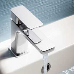 Crosswater Atoll Basin Mixer Tap With Lever Handle (Chrome).
