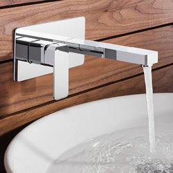 Crosswater Atoll Wall Mounted Basin Mixer Tap With Lever Handle.