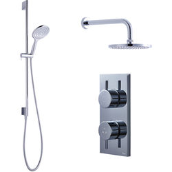 Crosswater Kai Digital Showers Dual Digital Shower, Head & Rail Kit (LP)