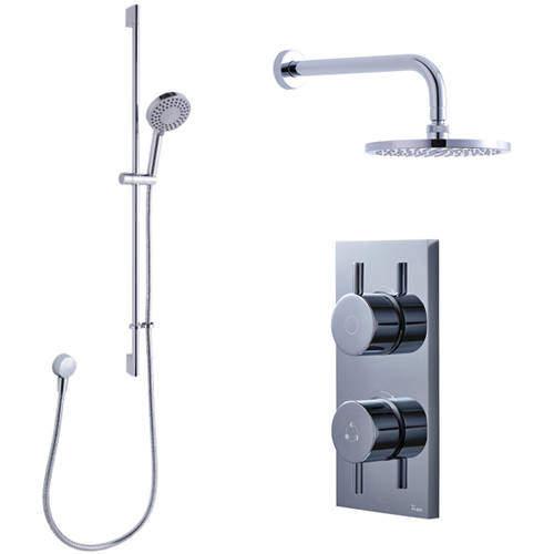 Crosswater Kai Digital Showers Dual Digital Shower, Head & Rail Kit (HP)