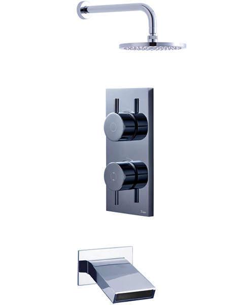 Crosswater Kai Digital Showers Digital Shower, Head & Slip Bath Spout (LP).