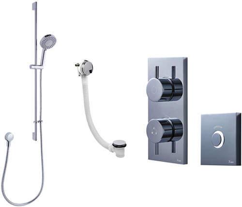 Crosswater Kai Digital Showers Digital Shower Pack 09 With Remote (HP).