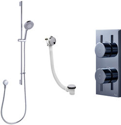 Crosswater Kai Digital Showers Digital Shower, Slide Rail & Bath Filler (LP)