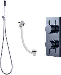 Crosswater Kai Digital Showers Digital Shower With Bath Filler & Kit (LP)