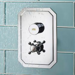 Crosswater Dial Belgravia Push Button Thermostatic Shower Valve (1 Outlet).