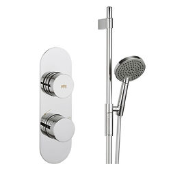 Crosswater Dial Central Thermostatic Shower Valve & Slide Rail Kit (1 Outlet).