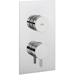 Crosswater Dial Kai Push Button Thermostatic Shower Valve (1 Outlet).