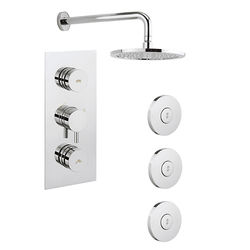 Crosswater Dial Kai Thermostatic Shower Valve With Head & Jets (2 Outlets)
