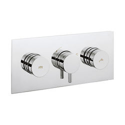 Crosswater Dial Kai Push Button Thermostatic Shower Valve (2 Outlets).