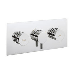 Crosswater Dial Kai Thermostatic Shower & Bath Valve (2 Outlets).
