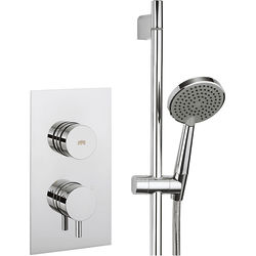 Crosswater Dial Kai Thermostatic Shower Valve & Slide Rail Kit (1 Outlet).